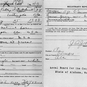 Kelly Fitzpatrick Registration Card